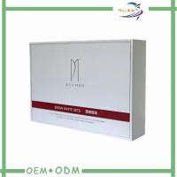 White Cardboard Cosmetic Gift  Package Box With EVA Foam And Ribbon Manufactures