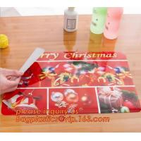 Heat insulation PVC Printed Placemat Dining Table Plate Mat,custom hot selling OEM pvc place mat dining table mat for wh Manufactures