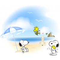 Custom clear cute design snoopy skin self adhesive canvas wall decoration painting Manufactures
