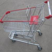 China Stylish supermarket shopping hand push cart on sale