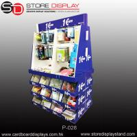 corrugated display PDQ pallet display stand with hooks and compartments Manufactures