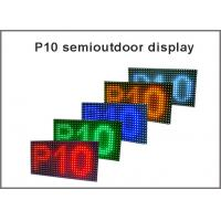 China Semioutdoor/Indoor P10 LED display modules red green blue yellow white display panel light message board on sale
