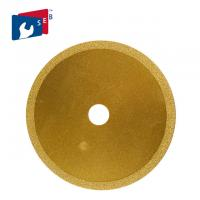 China 125 Mm Vacuum Brazed Diamond Blades Yellow Color Integral Structure High Speed on sale