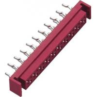 Straight DIP Micro Match Connector Red PA46 GF UL94V-0 With Latch Manufactures