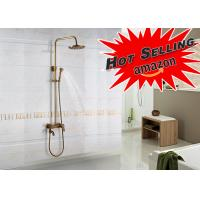 Sliding Brass Luxury Exposed Bath Shower Set Bronze Color Beautiful Appearance Manufactures