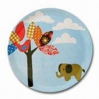 Eco-friendly Bamboo Laminated Dish, Customized Colors, Designs, and Sizes are Accepted Manufactures