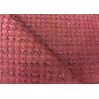 Good Looking Dark Red Wool Blend Fabric With Soft Handfeeling Manufactures