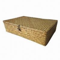 Straw Basket (Square) Oblong, Various Colors are Available Manufactures