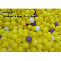 China Plastic Ocean Ball Inflatable Ball Game 5.5cm Diameter Pit Ball For Kids Playground on sale