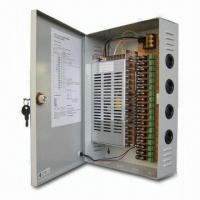 18-channel CCTV Power Supply with 16A Total Output, 220V AC and 12V DC Voltage Manufactures
