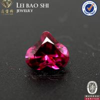 8mm Nice Cutting  Red Ruby Color Heart Shaped Faceted Synthetic Corundum Stone Manufactures