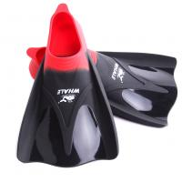 Adult Red Travel Swim Fins , Men'S Diving Fins With Super Soft Silicone Material Manufactures