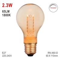 E27 A60 Bulb, Deco Light, LED Bulb, Fashionable Glass Bulb, Candle Light Manufactures