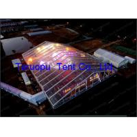 China PVC Coated Roof Wedding Clear Span Structure Tents Movable Including  600 Seater on sale