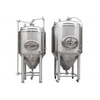 Silver Stainless Steel 304 / 316L Conical Beer Fermenter With 1000l Capacity Manufactures
