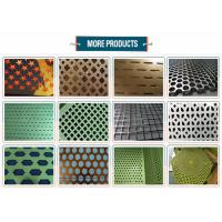 10mm Round Hole Mesh Powder Coated , Perforated Mesh SheetCorrosion Resistance Manufactures