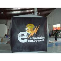 Quality Reusable durable PVC cube balloon with Full digital printing for Opening event for sale