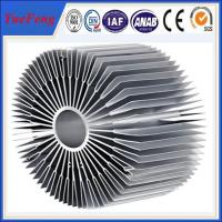 Hot sale aluminium led radiator profile, OEM style sunflower led aluminum profiles Manufactures