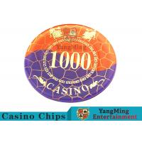 Quality Crystal Acrylic Casino Poker Chips , Mesh Bronzing Silkscreen Custom Casino for sale