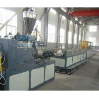 SJSZ 65 Wood Plastic Extrusion Line , Conical Twin Screw Extruder Manufactures