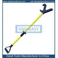 China 50 inch push pull pole, yellow color with black nylon V head, stiff push pole safety tool manufacturer in China on sale