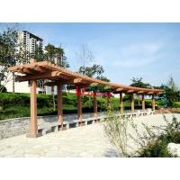 China Customized Outdoor Park Pergola Kits Environmental Friendly arch style with single line post on sale