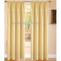 finished window curtain,polyester embroidery curtain with fashion valance Manufactures