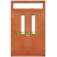 Commercial fire retardant wood doors with glazing,UL Certificated is available Manufactures