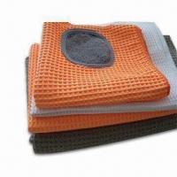 China Microfiber Cleaning Clothes with Scrubber, Suitable for Any Surface Including Glass, Reusable on sale