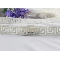 Irregular Graph 100% Cotton Lace Fabric Trim For Garment By The Yard Water Soluble Manufactures