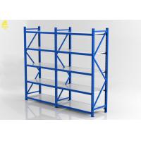 China 300KG / Laye Light Duty Storage Rack 2Mx0.6Mx2M Blue Color Steel Materials on sale