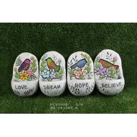 Multi Color Cement Garden Statues With Words