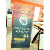 High Resolution Vertical Adjustable Banner Stand For Trade Shows Light Weight Manufactures