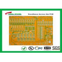 Mortherboard Quick Turn Printed Circuit Boards  with Yellow Solder Mask FR4 1.6MM Manufactures