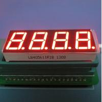 "High Brightness 0.56"" 4 Digit 7 Segment Led Display Ultra Red For Temperature Indicator Manufactures"