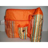 Insulated 2 Piece Orange Striped Cooler & Thermos Bags NEW Great for Beach camping Manufactures