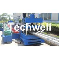 15KW Highway Guardrail Roll Forming Machine With 7 Rollers Leveling For W Beam Guardrail Manufactures