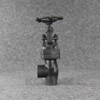 China Angle Type Forged Steel Globe Valve SW NPT Carbon Steel Angle Stop Valv on sale