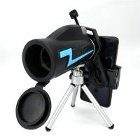 Portable Cell Phone Monocular Telescope 40x60 For Hiking Fishing Camping Manufactures