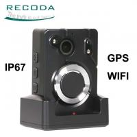 China Wide Angle Infrared Body Worn Camera GPS Location Support 64x Digital Zoom on sale