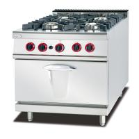 China LPG / Natural Gas 4 Burner Cooking Range Impulsive Ignition Stainless Steel Gas Stove on sale