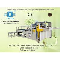 Semi Automatic Folder Gluer Machine For Paper Packaging Manufactures