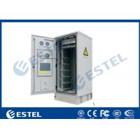 IP55 32U Outdoor Cabinet Air Conditioner Cooling / 19 Inch Rack Mount Double Wall Base Station Cabinet Manufactures