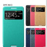 China Wallet PU LEATHER SKIN CASE COVER FOR HTC 816W +SCREEN PROTECTOR on sale