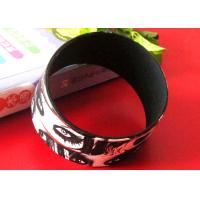 CMYK Printing Logos Adult Size White Silicone Rubber Wristbands Bracelets Manufactures