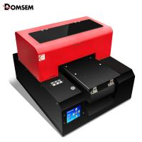 China Glass Metal A4 UV Flatbed Printer 3D Textured And Raised Printing 30kg on sale