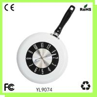 Quality Metal pan clock/kitchen wall clock for sale