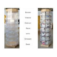 Buy cheap 72 Greating Cards Metal Book Display Stand With Plastic Pocket And MDF Base from wholesalers