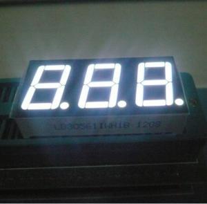 "14.2mm(0.56"") White 7 - Segment LED Display 3 Digit for digital Temperature /Humidity indicators Manufactures"