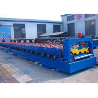 China Steel Floor Deck Roll Forming Machine , Roof And Floor Tile Making Machine on sale